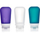 humangear GoToob+ 3-Pack Large 100ml Clear/Purple/Turquoise